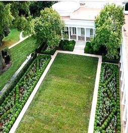 El nuevo jardín en 2020 incluyendo sendero perimetral