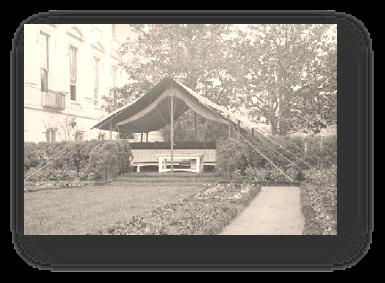 Oficina en el jardín del Presidente Wilson en 1913
