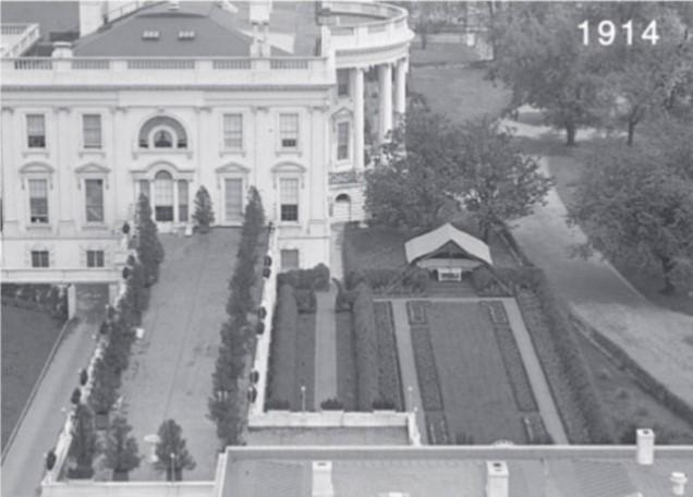 Vista aérea y detalle de la renovación de Ellen Wilson en 1913 - Vista 1